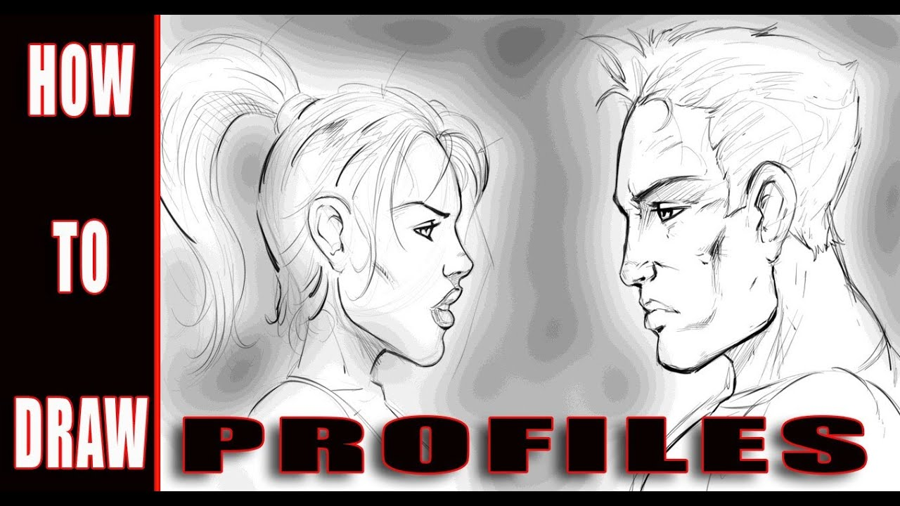 how to draw profiles comic book style art youtube