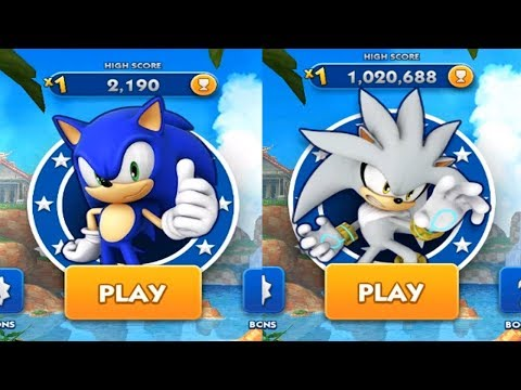 Sonic Dash Android Gameplay - SONIC VS SILVER