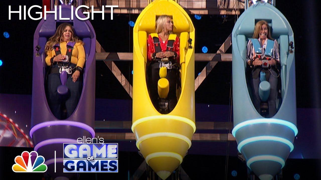Download Name Dropper: Ellen Forces Contestants to Ride a Crazy Coaster - Ellen's Game of Games 2021
