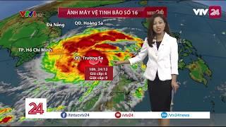 Cập nhật thông tin về cơn bão số 16 tiến vào biển Đông  - Tin Tức VTV24