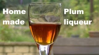 Home Made Plum Liqueur