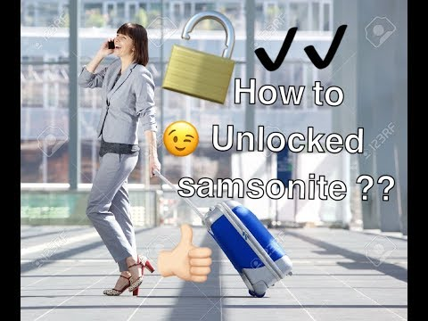 Easy trick to unlock a suitcase - Samsonite Please Subscribe to my Channel