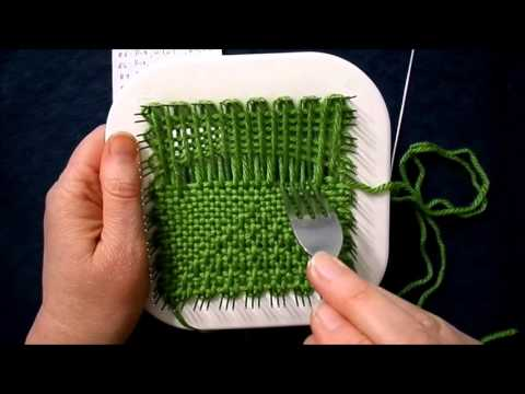Basic Pin Loom Weaving---Patterned Stitch and Corners