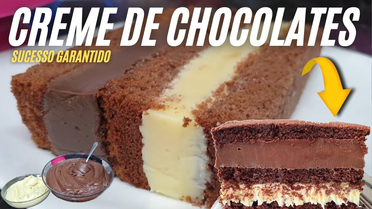 SUCESSO GARANTIDO BOLO 2 AMORES A MELHOR COMBINAÇÃO DE RECHEIOS CREMES DE CHOCOLATE