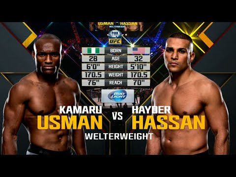 UFC Debut: Kamaru Usman Vs Hayder Hassan | Free Fight