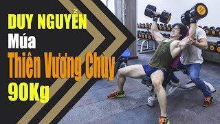 Tập đẩy vai Dumbbell Shoulder Press 90kg thoải mái - Duy Nguyễn livestream