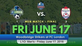 2016/06/17 Woodbridge Strikers at FC London (Men's) 3:1