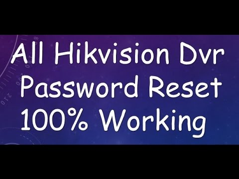 Factory Reset Your Hiwatch / Hikvision DVR or NVR by tvtradedave
