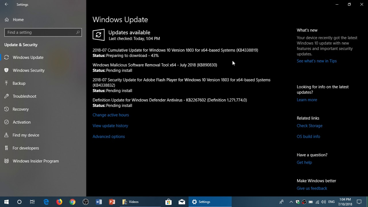Windows Patch Tuesday Security updates available Wndows 7 81 and 10