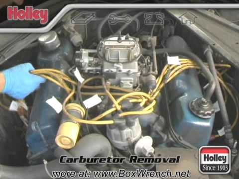 Carburetor Removal Video  Holley Carb Install & Tuning