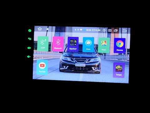 Xtrons TS709l Double DIN Android 9.0 Car Headunit Stereo Saab 9-3 Aero 2008