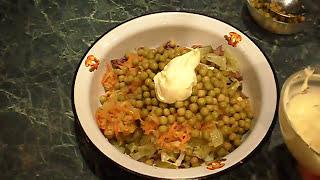 Покорит всех гостей.Закусочный салат из куриной печени.appetizer.salad with chicken liver.