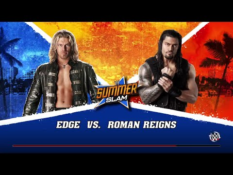 WWE 2K15- Roman Reigns vs Edge Normal Match 2015 (PS4)