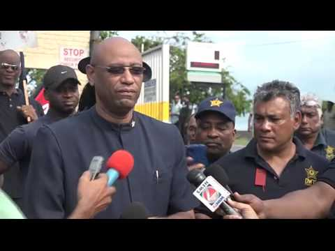 Oilfields Workers Trade Union Protest @ Pointe a Pierre Roundabout. July 14,2015 - Trinidad & Tobago