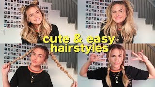 cute & easy heatless hairstyles for second-day hair