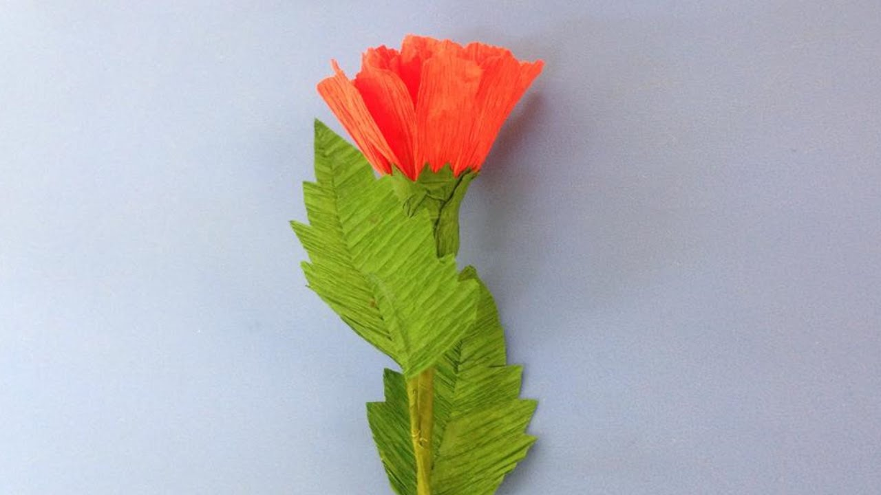 How To Make Carnation Crepe Paper Flowers Flower Making Of Crepe Paper Paper Flower Tutorial
