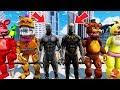 ANIMATRONICS & BLACK PANTHER vs KILLMONGER! (GTA 5 Mods For Kids FNAF RedHatter)