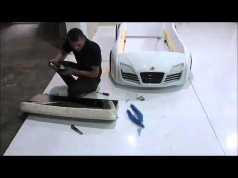Autobett Aufbauanleitung Kinderbett Montage Turbo V8 Youtube