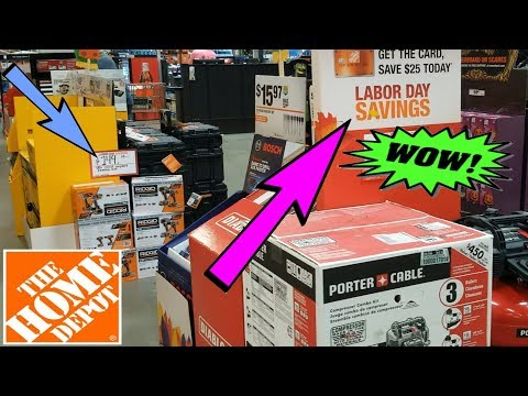 Labor Day Tool Deals||Shopping Home Depot