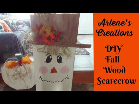 DIY Wood Plank Scarecrow