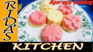 Agar agar mango pudding | China grass pudding | rose milk mango puding in agaragar| kadal paasi