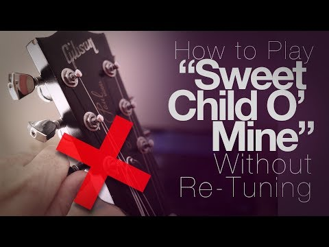 """How to play """"Sweet Child 'O' Mine"""" without re-tuning to Eb"""
