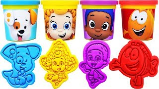 Gambar cover Play-Doh BUBBLE GUPPIES Molds &  Bubble Puppy, Mr. Grouper, Deema, Goby