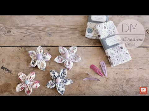 DIY: Hair accessories in patchwork fabric by Søstrene Grene