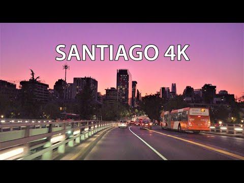 Santiago 4K - Sunset Drive - Chile