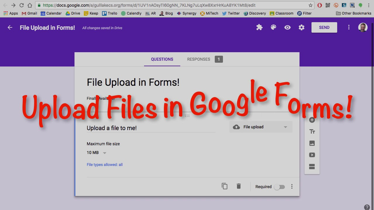 File Upload in Google Forms - YouTube