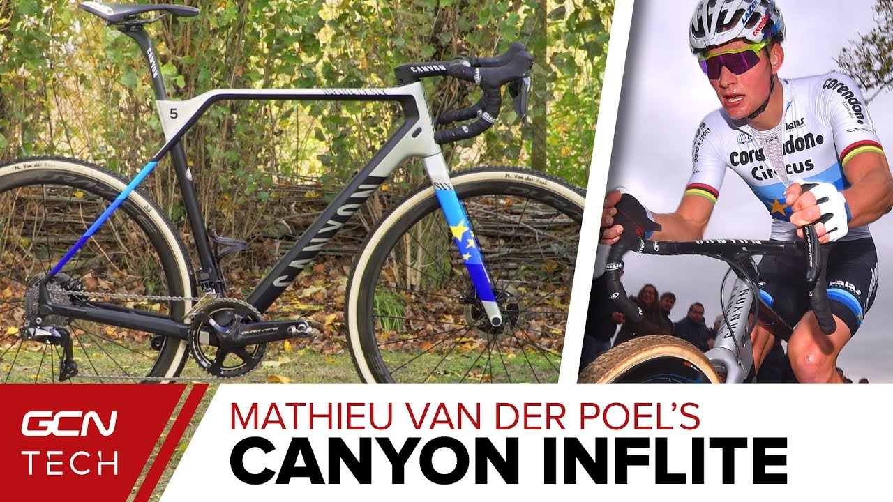 mathieu van der poel s canyon inflite cf slx cyclo cross bike