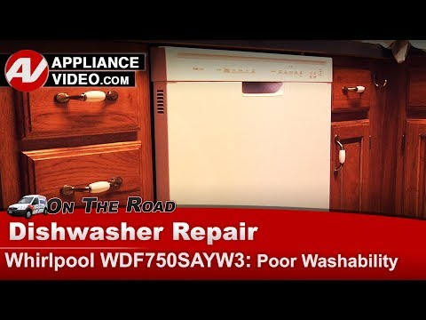 Whirlpool, KitchenAid & Roper  Dishwasher -  Not cleaning dishes - Diagnostic & Repair
