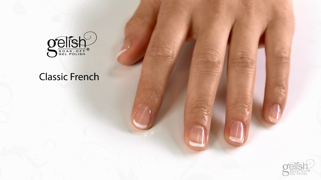 Gelish Step By Step French Manicure Youtube