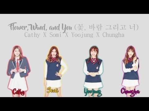 꽃, 바람 그리고 너 (Flower, Wind, and You) - Cathy, Somi, YooJung, Chungha [HAN/ROM/ENG COLOR CODED LYRICS]