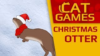 CAT GAMES - Christmas otter (Entertainment videos for cats to watch) 60fps