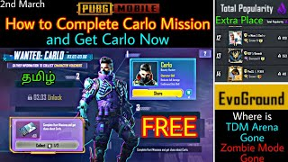 How to Complete Carlo Mission & Get Carlo, Carlo Tips, why TDM Arena Gone, More Popularity member