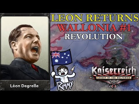 HOI4 Kaiserreich: Leon Degrelle Returns - Wallonia #1 - Revolution