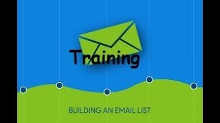 How To Grow Your E-mail List Training Intro