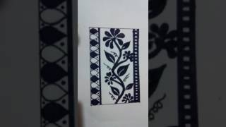 Drawing, ALPONA,SAREE KI FALSA KA NAKSHA,NAKSHI KATHA