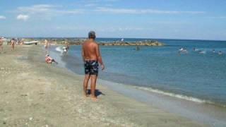 Strand van camping Les Tamaris te Frontignan plage