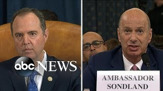 Ambassador to EU addressed withholding aid at briefing with Vice President Pence | ABC News