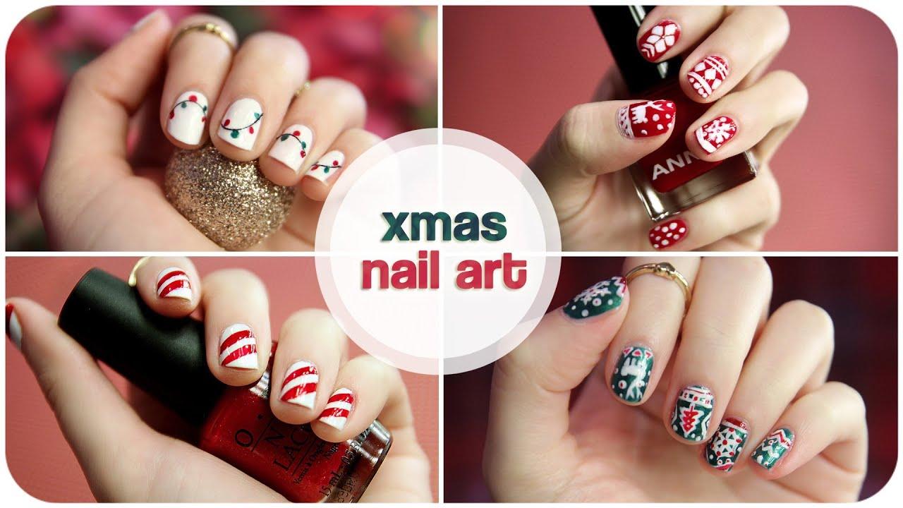 ✧ ❄ XMAS NAIL ART ❄ ✧ | süße Nageldesigns für Winter/Weihnachten ...
