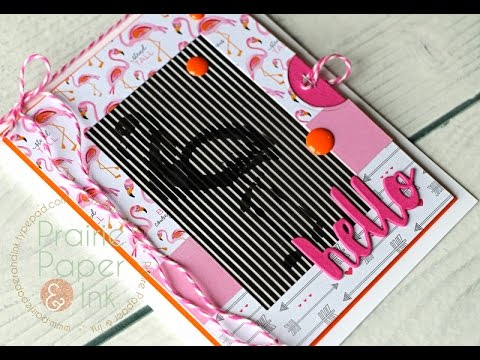 SSS Flamingo Animation Card | SSS May 2017 Animation Card Kit
