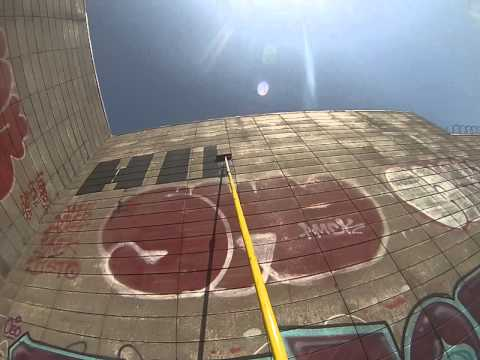 Hoping paint roller (graffiti art) GoPro