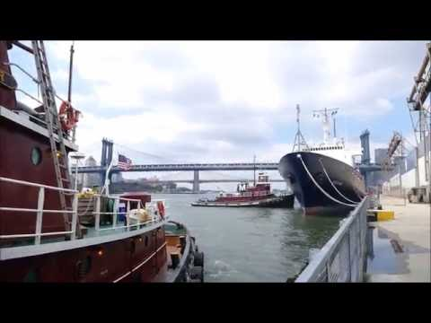 Training Ship State Of Maine departs Pier 36