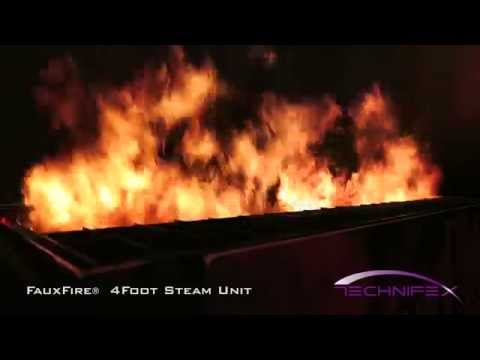 FauxFire® - Simulated Fake Fire Flame System  4 Foot Unit