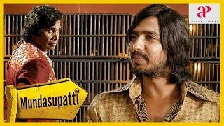 Mundasupatti Movie Comedy | Vishnu Vishal reaches Mundasupatti village | Kaali Venkat | Nandita