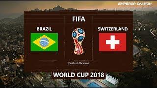 PES 2018 | Brazil vs Switzerland | FIFA World Cup 2018 | PC Gameplay