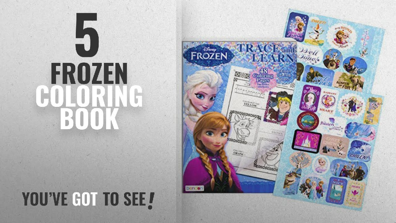 Top 10 Frozen Coloring Book 2018 Disney Trace And Learn Activity