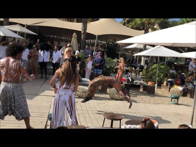 Acrobatic flips in acro dance Marbella